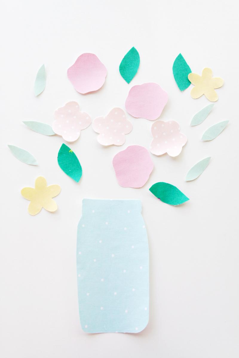 Mason Jar Flower Fabrics