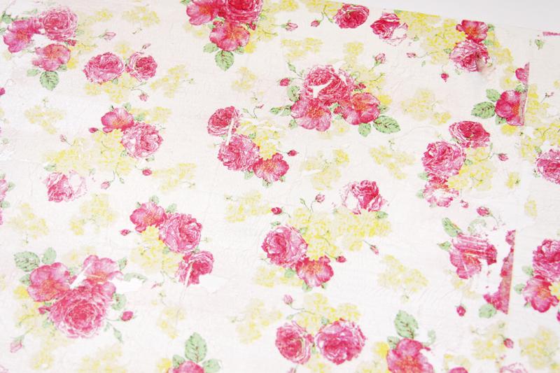 Napkin Floral Rustic Shelf