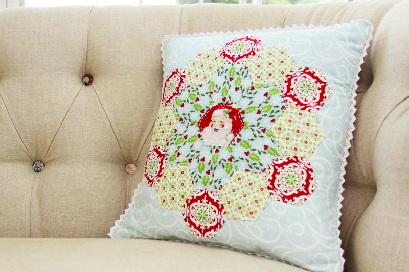 Pretty Vintage Style Christmas Pillow