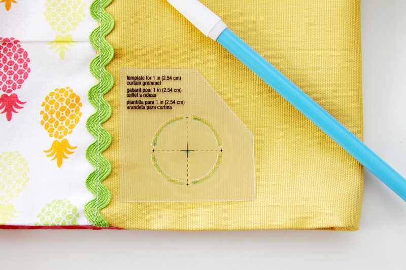 Tracing Curtain Grommet Pattern