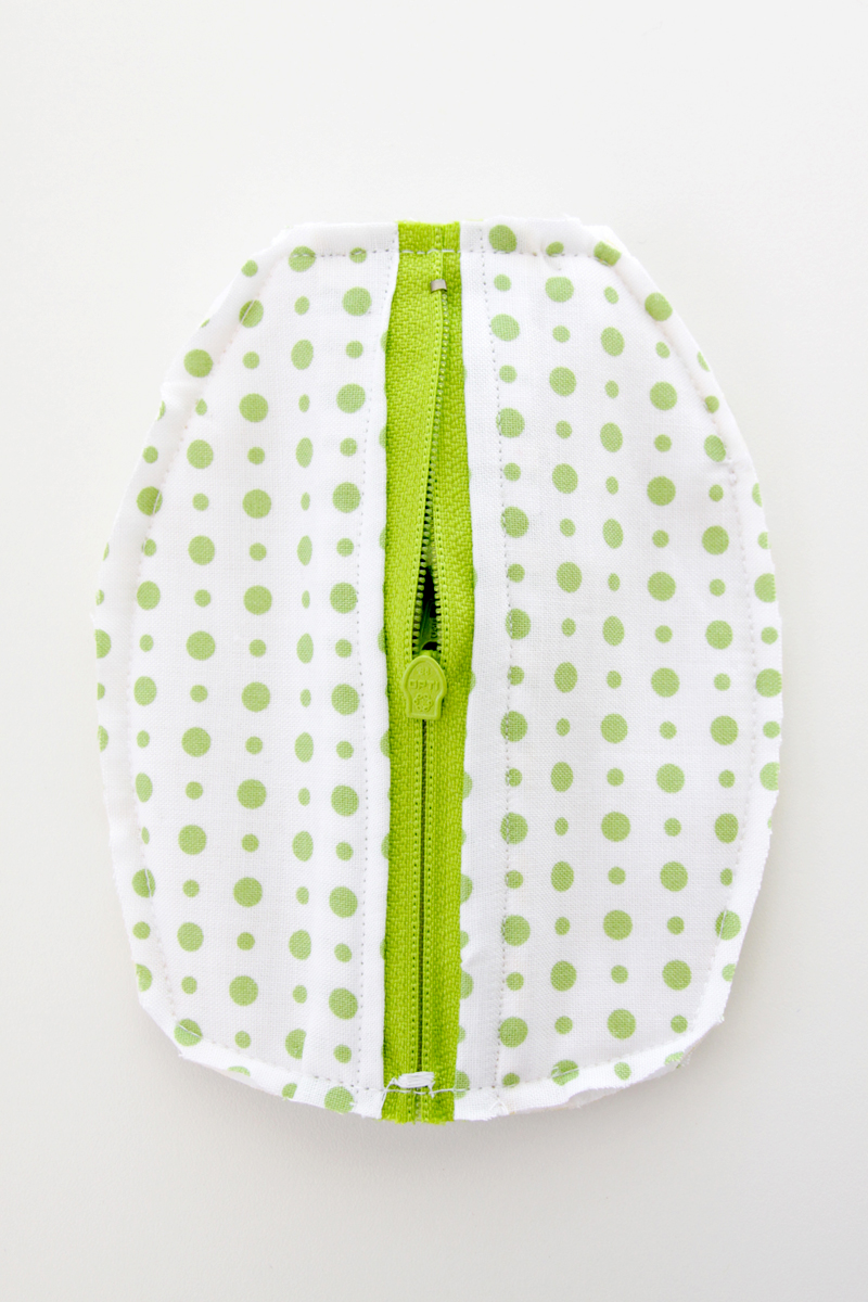 Trim Edges of zipper pouch