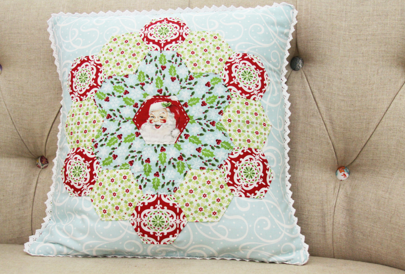 Vintage Christmas Hexagon Pillow