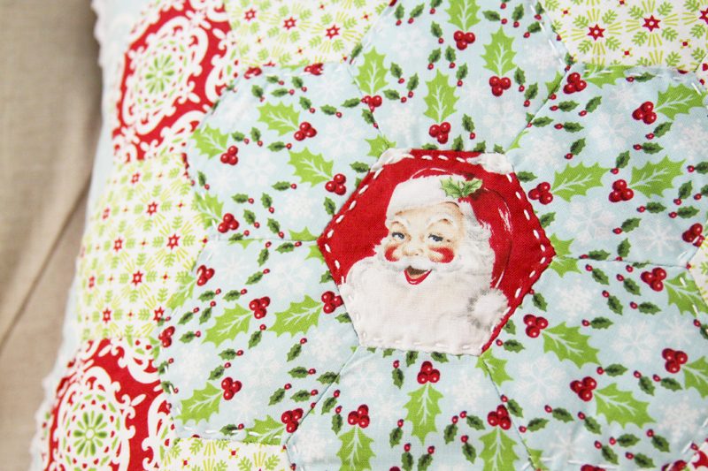 Vintage Style Christmas Pillow