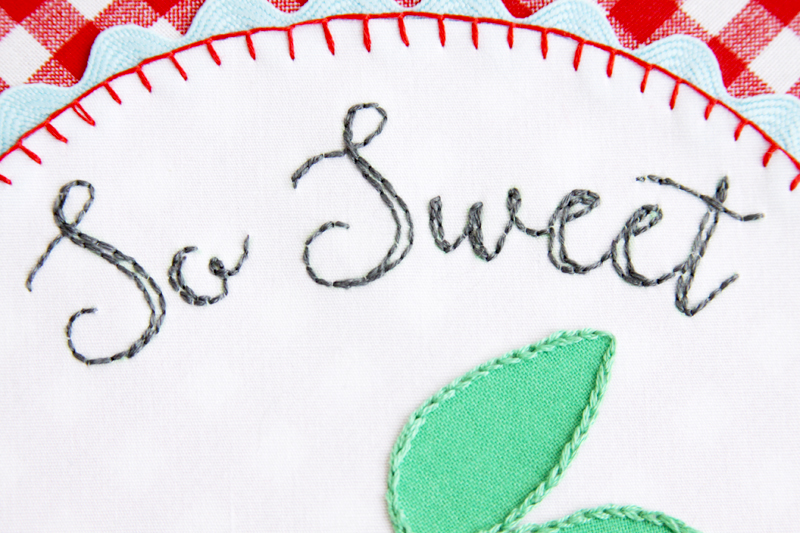 Backstitch Lettering