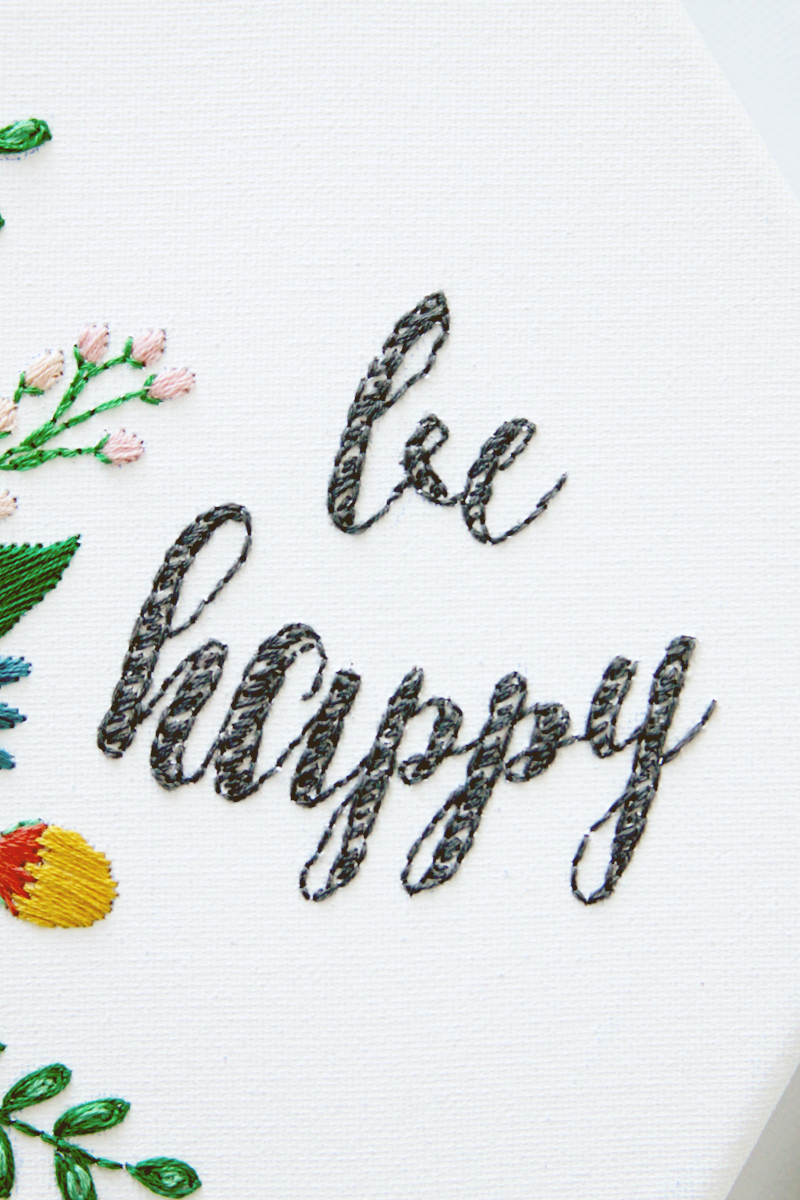 Be Happy Embroidery