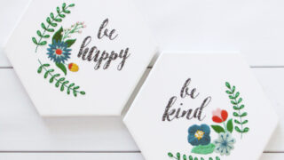Be Happy and Be Kind - Hexagon Canvas Embroideries