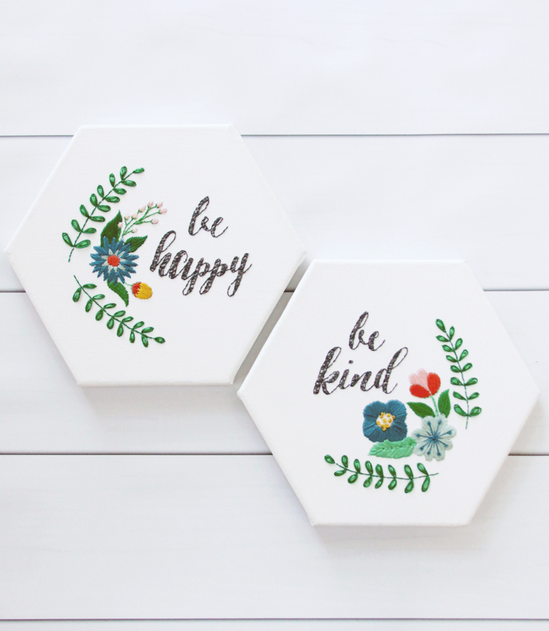 Be happy and be kind free embroidery patterns