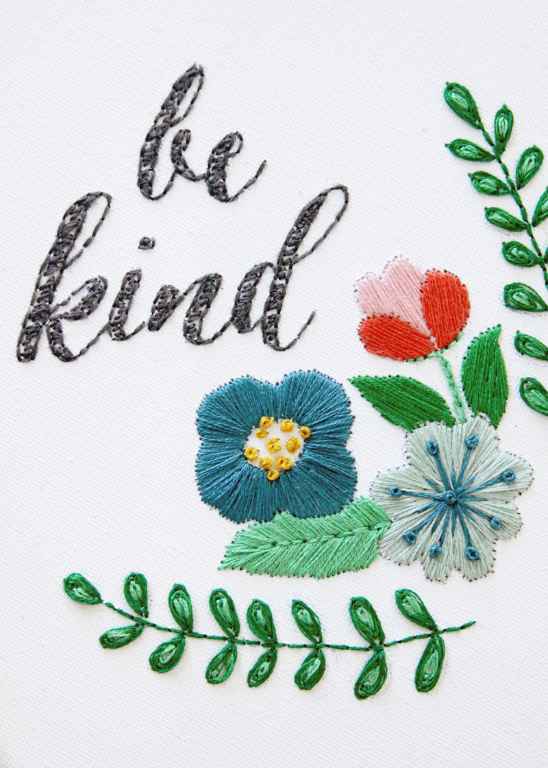 Be Kind Embroidery