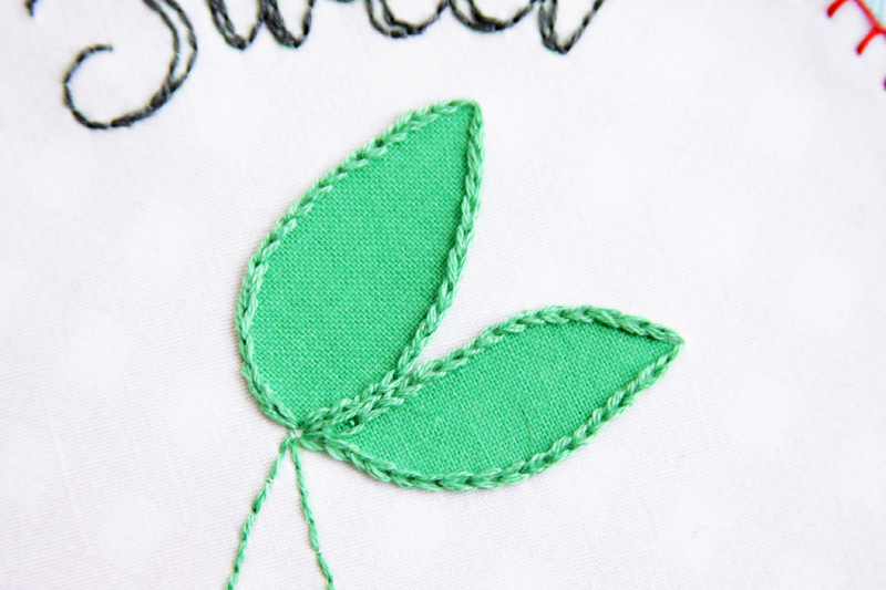 Chain Stitching on Leaves