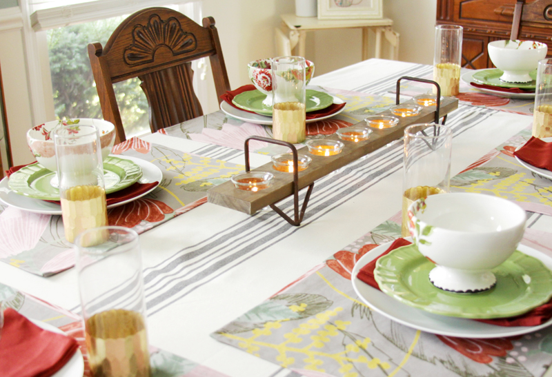 Colorful Fall Dinner Party Decor
