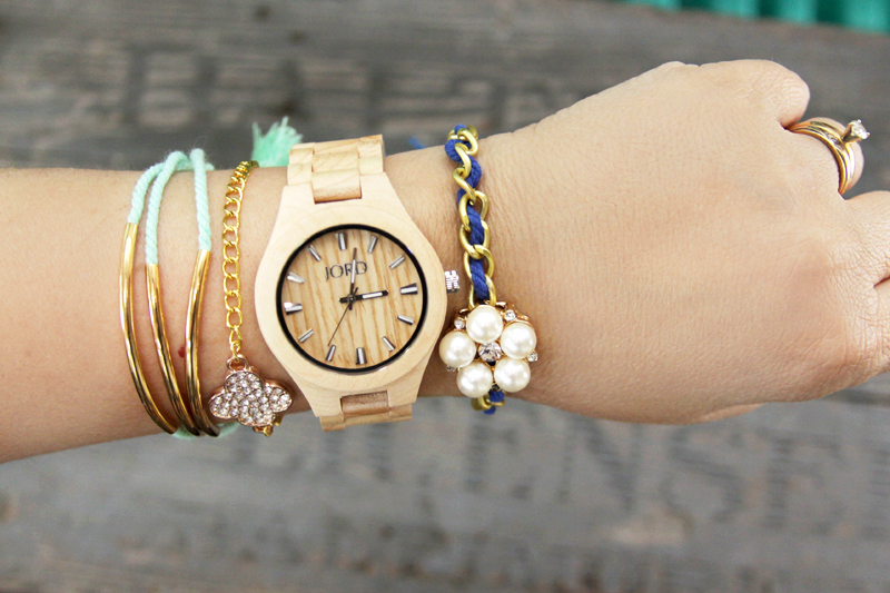 Colorful Summer Layered Watch and Jewelry