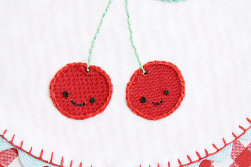 Cute Embroidered Cherries