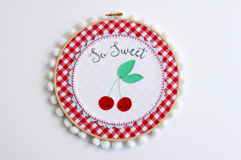 Finish Hoop with Pom Pom Trim