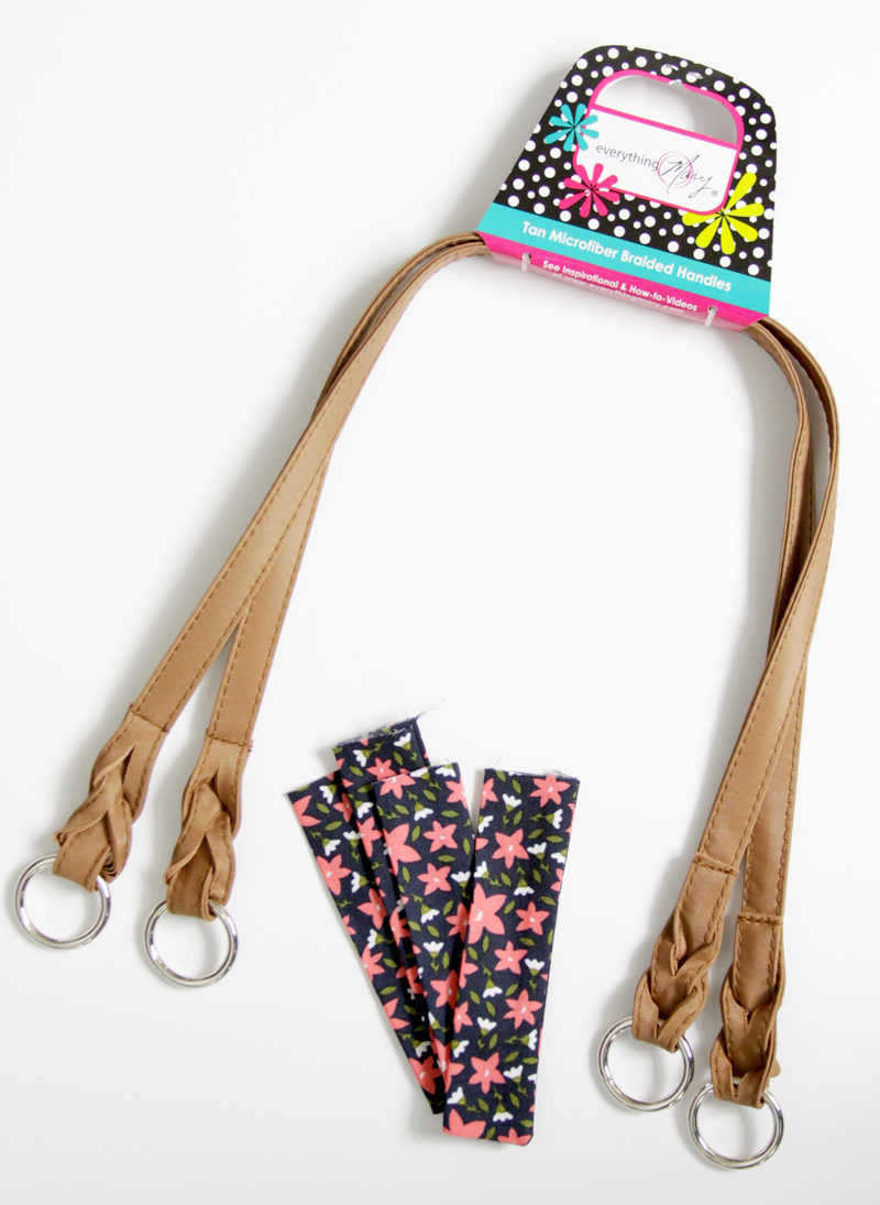 Handles of tote bag