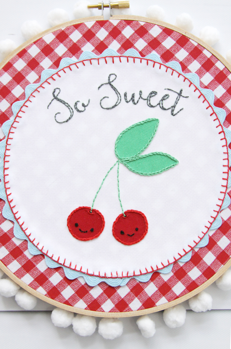 Retro Cherry Hoop Art