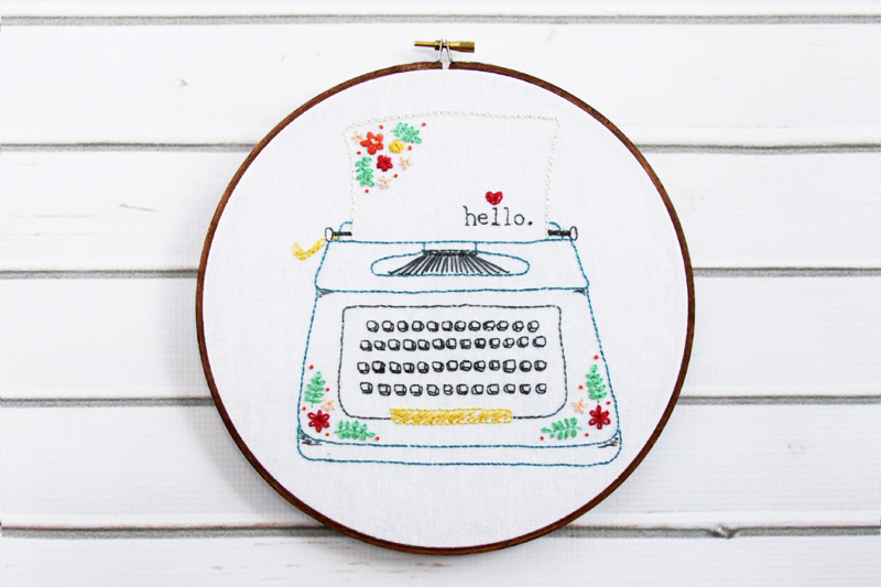 Retro Typewriter Embroidery