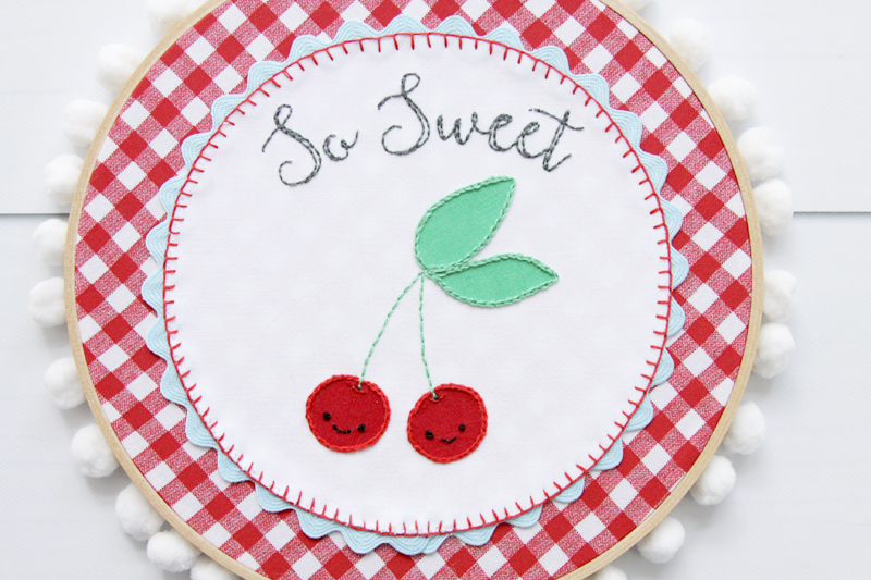 So Sweet Cherry Hoop Art