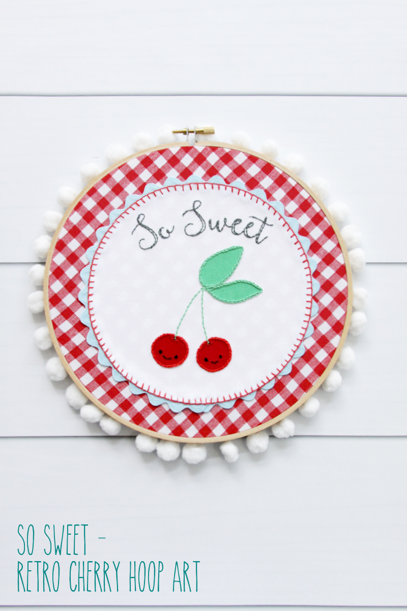 So Sweet - Retro Cherry Hoop Art