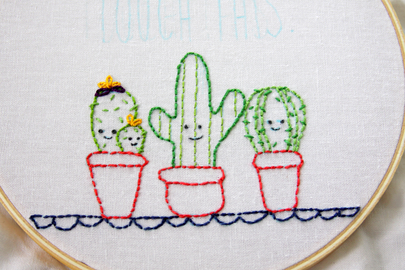 Cute Cactus Embroidery
