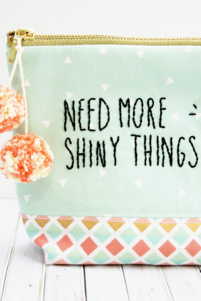 Need More Shiny Things Free Zipper Pouch Pattern