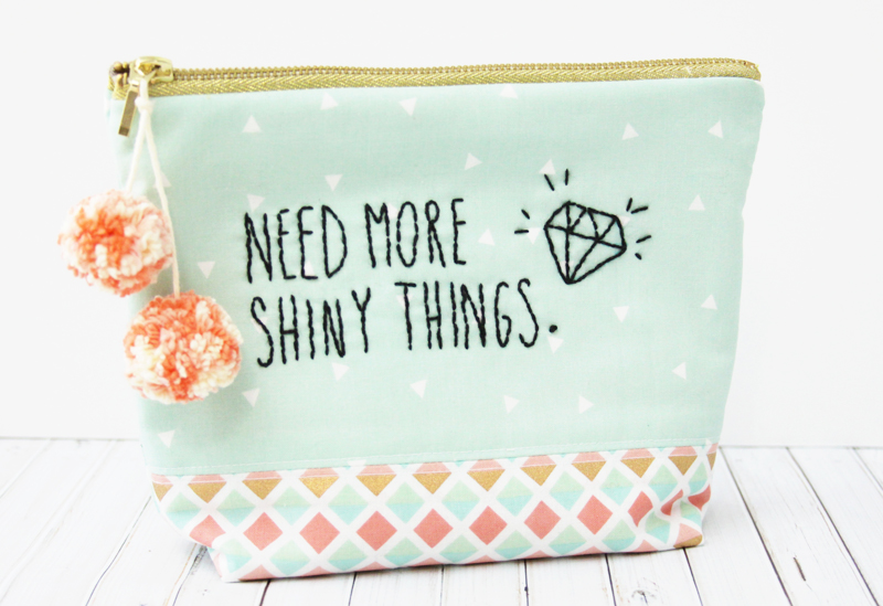 Cute Shiny Things Zipper Pouch