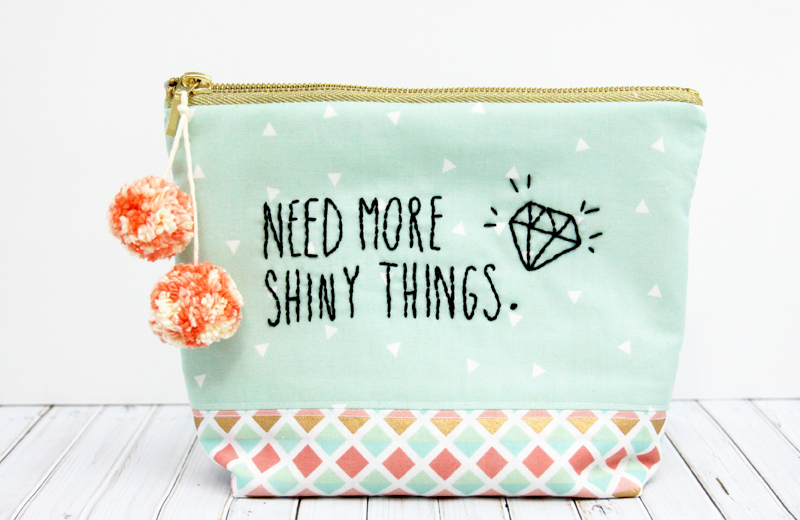 Need More Shiny Things Zipper Pouch
