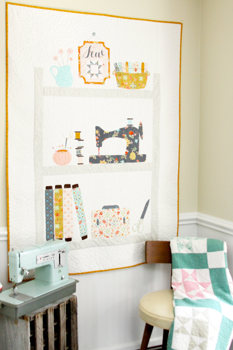 Sewing Shelves Quilt