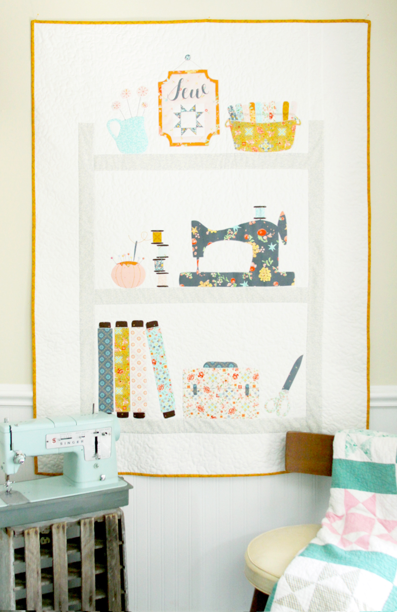 sweet-sewing-shelves-quilt-with-free-pattern