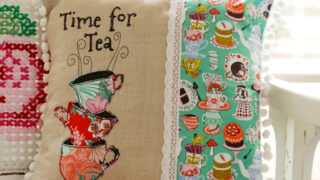 Time for Tea - Wonderland Fabric Pillow