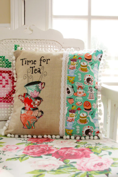 Time for Tea – Wonderland Fabric Pillow and Giveaway