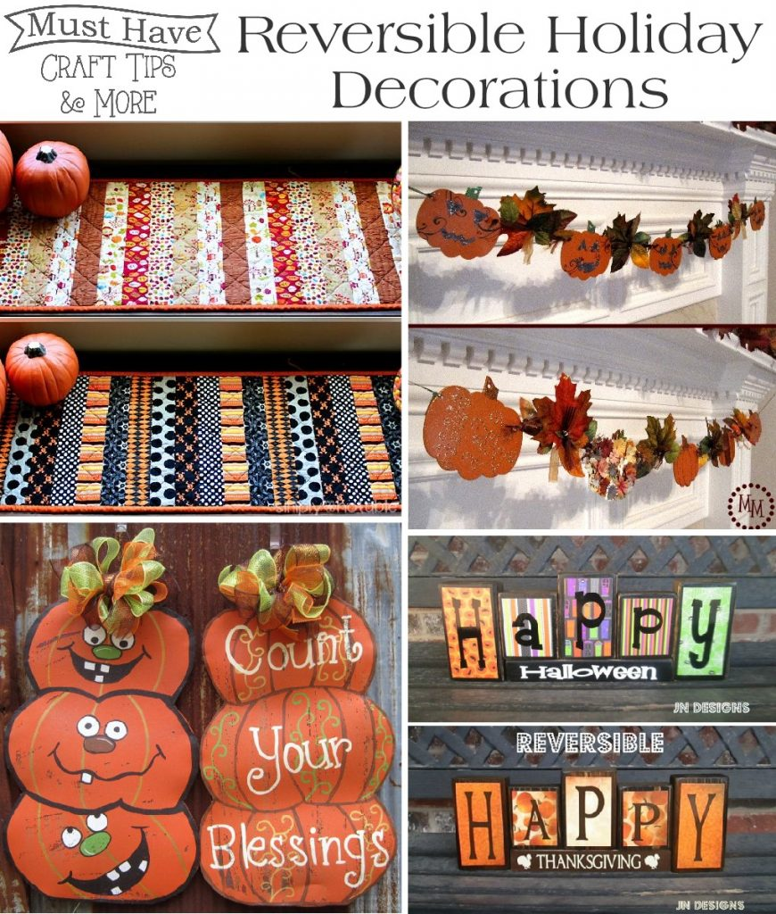 Must have craft tips reversible holiday decorations for Christmas home decor 2016