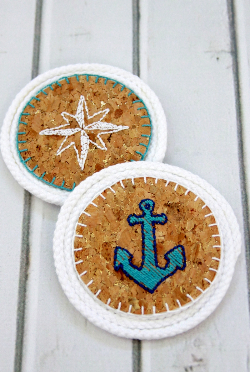 anchor-and-star-cork-coasters