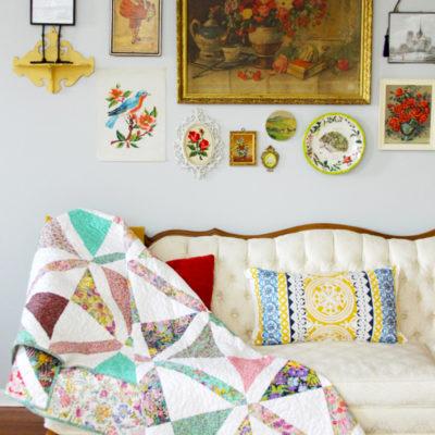 Colorful Crosshatch Quilt