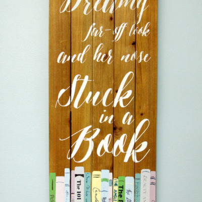 Beauty and the Beast Bookish Wall Art