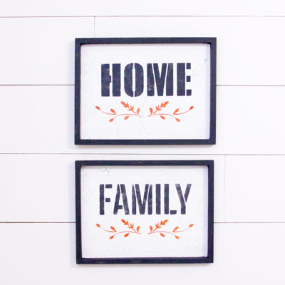 Simple DIY Fall Stenciled Farmhouse Signs