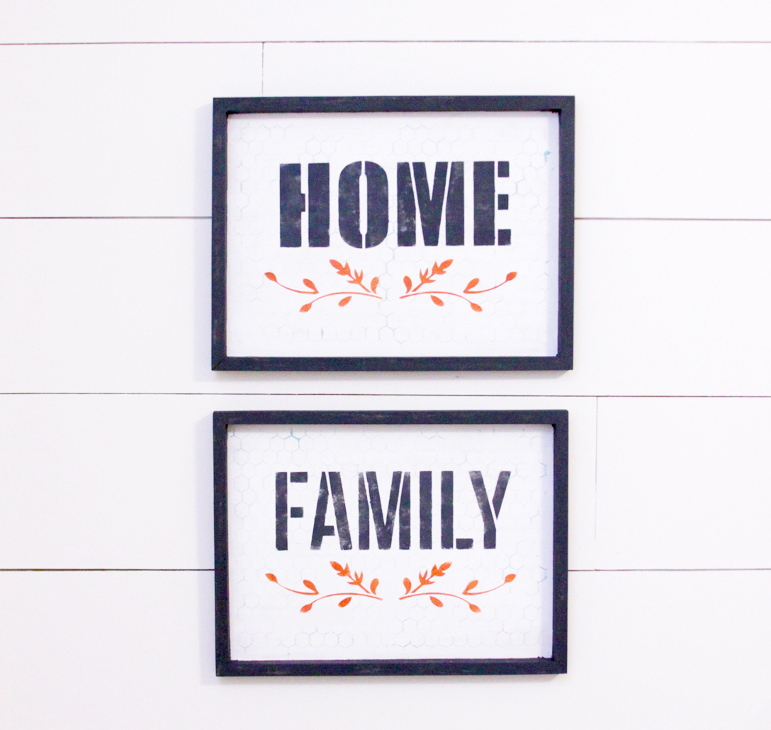 home-and-family-fall-painted-signs