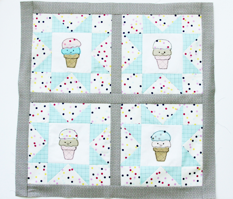 ice-cream-mini-quilt-sashing