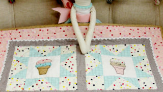 Sweet Ice Cream Mini Quilt