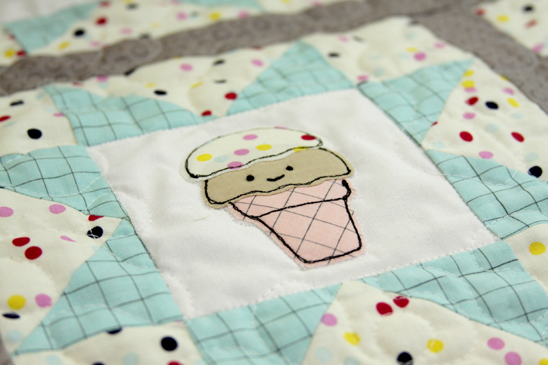 Sweet Embroidered Ice Cream Cone