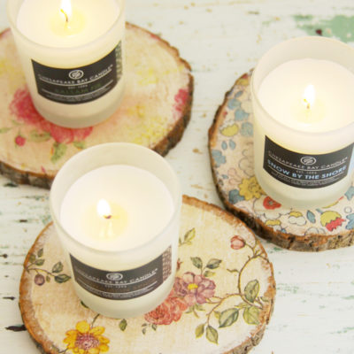 Rustic Floral Candle Coasters