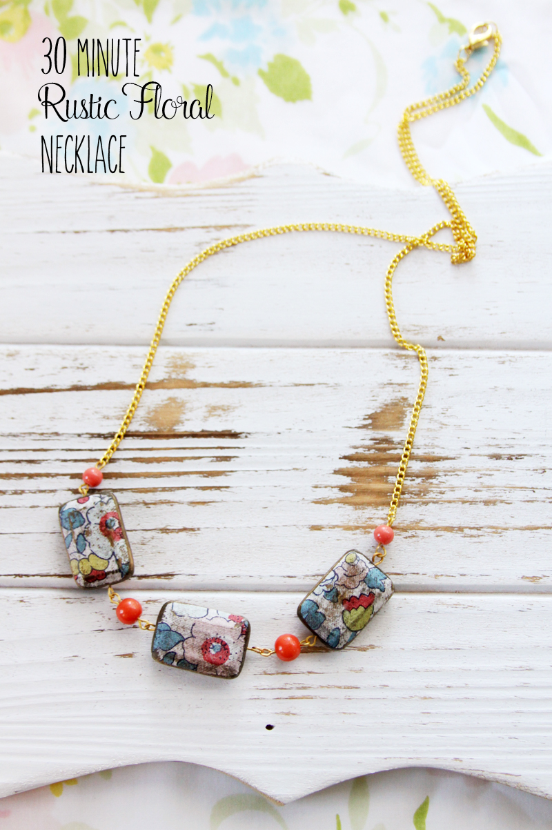 30 Minute Rustic Floral Necklace