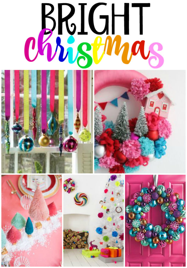 Best Christmas Decorating Trends featured by top US craft blog, Flamingo Toes: Bright Colored Christmas
