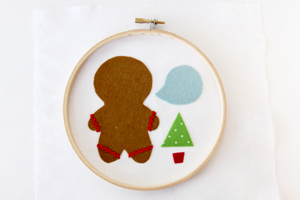 fabric-and-felt-for-gingerbread-hoop-art