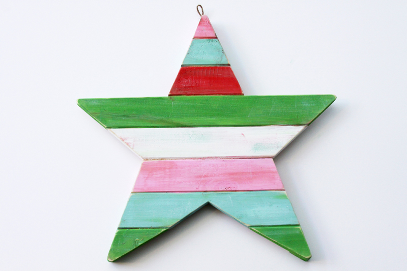 painted-star-for-christmas-wreath