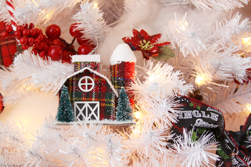 plaid-barn-ornaments