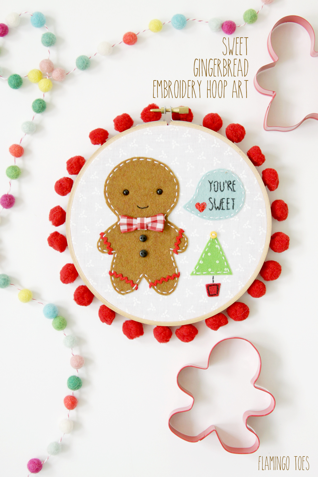 Gingerbread Hoop Art