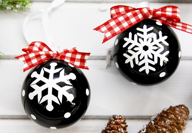 Chalk Style Snowflake Ornaments