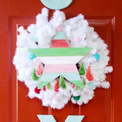 Vintage Style Joy Wreath Set