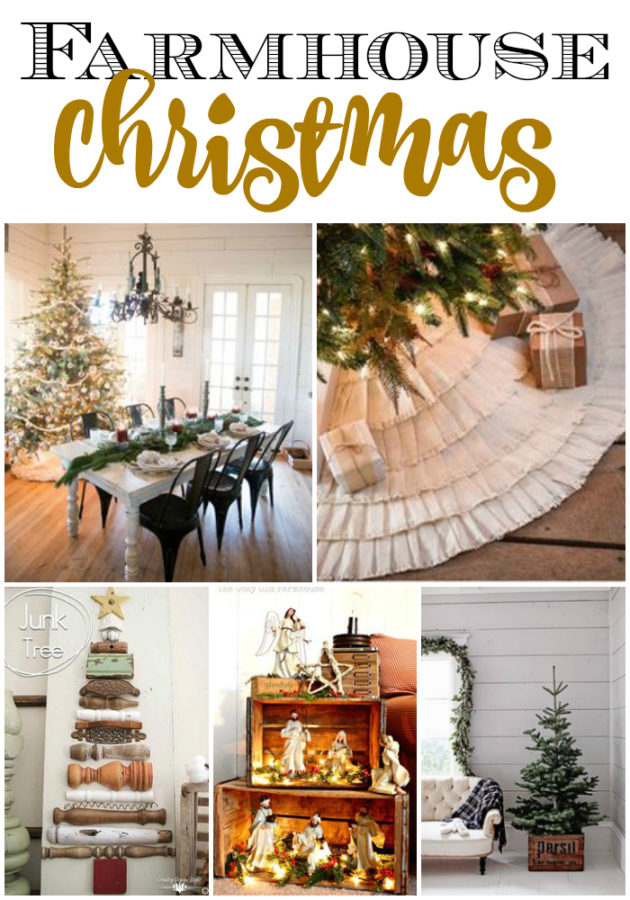 Best Christmas Decorating Trends featured by top US craft blog, Flamingo Toes: Farmhouse Christmas