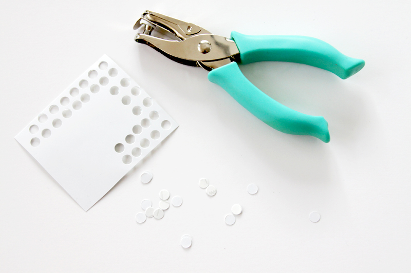 making-vinyl-polkadots-with-hole-puncher